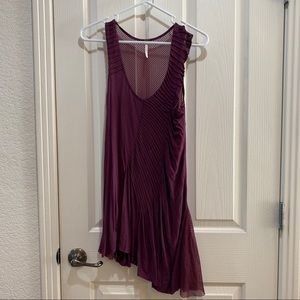 Free People Tunic Dress Small Like New Burgundy